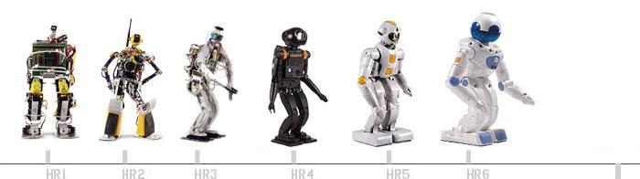 evolution du robot